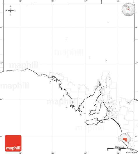 Blank Outline Map South Australia by Blank Simple Map Of South Australia No Labels