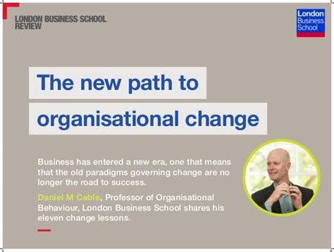 Mba To Transition To New Industry by The New Path To Organisational Change Business