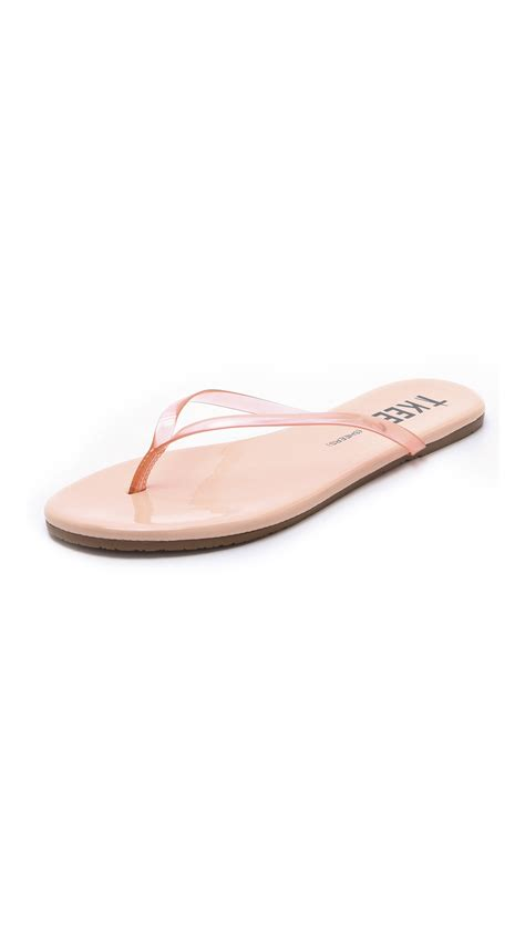 tkees sandals tkees sheers flip flops in beige tender lyst