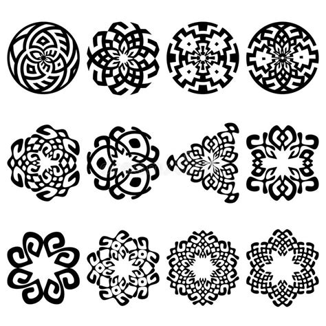 set of floral vector patterns royalty free stock images image 20201649 set of 12 ethnic floral signs and design elements stock vector image 47699181