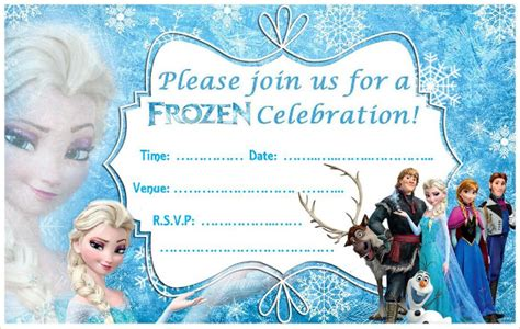 frozen birthday card template frozen birthday invitations theruntime