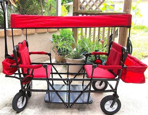 two seat wagon seat 2 seater folding wagon with canopy 900141