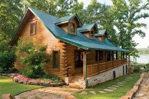 Lakefront Cabin Plans by Custom Crafted Lakefront Log Home