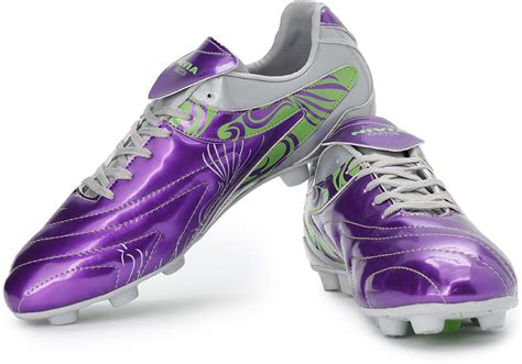 shopping football shoes nivia new raptor football shoes buy purple silver color