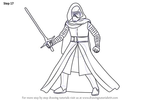 star wars coloring page kylo ren learn how to draw kylo ren from star wars star wars step