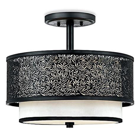 Buy Quoizel 174 Utopia Mystic Black Ceiling Light With Cream Black Ceiling Light Shades