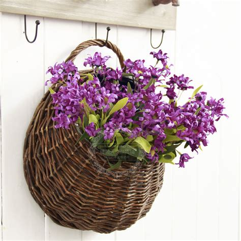 Handmade Flower Baskets - handmade wicker hanging basket flower basket flower vase