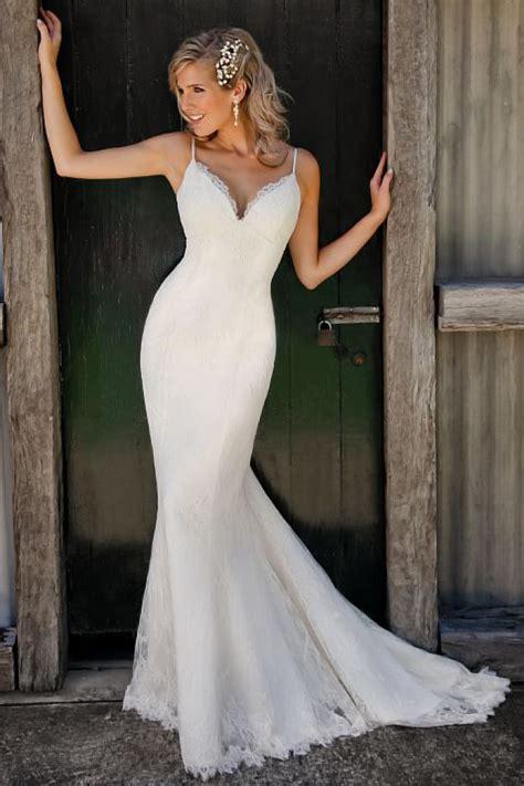 sexy mermaid lace wedding dresses  spaghetti strap