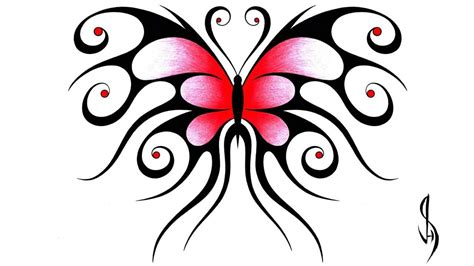 how i draw a swirly symmetrical butterfly design youtube