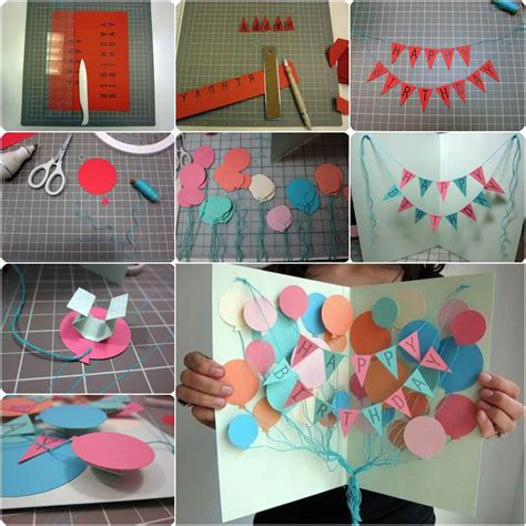 Creative Ideas To Wish Happy Birthday How To Diy Creative Happy Birthday Banner And Balloon Card