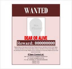 wanted template doc 430632 wanted poster word template 29 free wanted