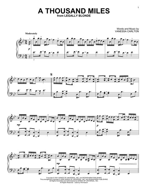 tutorial piano a thousand miles a thousand miles sheet music by vanessa carlton piano