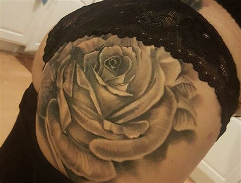 rose tattoo on bum with crohn s disease shows new