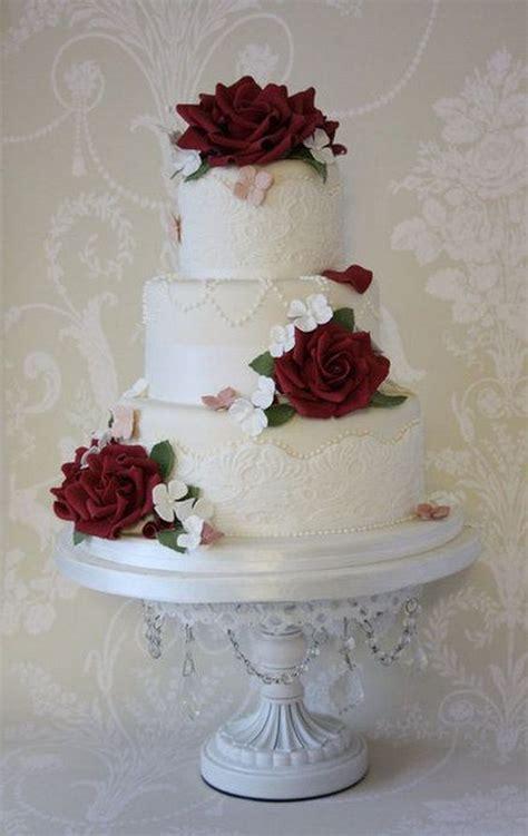 Top 20 Burgundy Wedding Cakes You'll Love   Deer Pearl