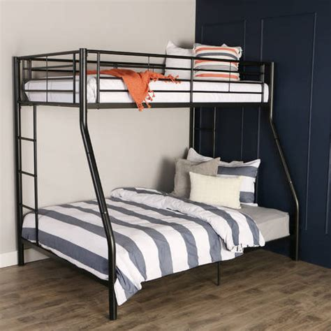 bunk bed walmart premium black metal twin over full bunk bed multiple