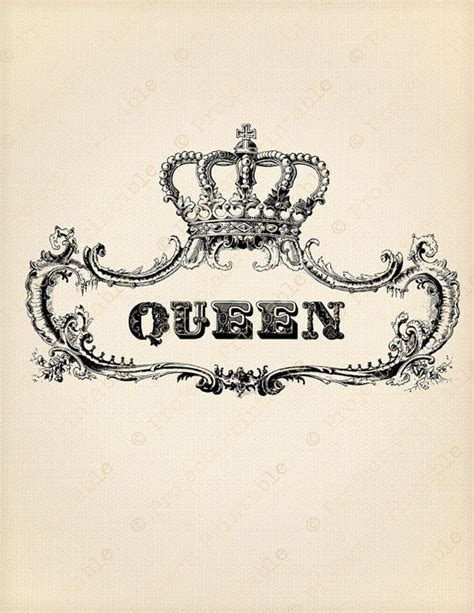 printable queen crown ornate frame royal queen crown digital by projectprintable