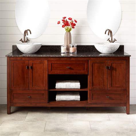 72 Vanities With Vessel Sinks 72 Quot Alcott Bamboo Vessel Sink Vanity Light