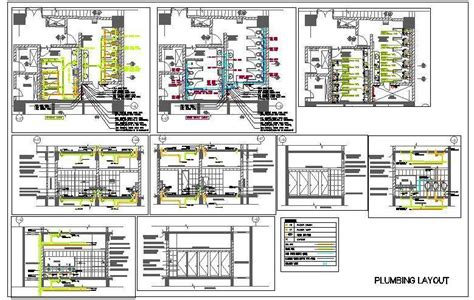 Sample House Floor Plans by Public Toilet Plumbing Design Sanitary Drainage Water