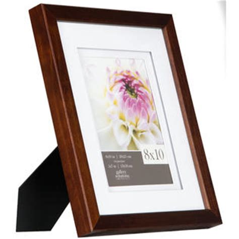 Frame Matted To 8x10 by Gallery Solutions 11x14 Espresso Frame Matted To 8x10