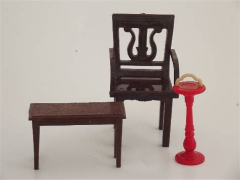 plastic doll house furniture renwal plastic dollhouse furniture lot vintage celluloid doll house dolls