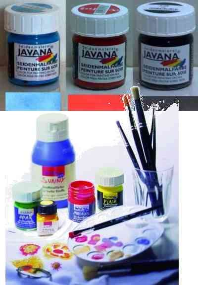 Javana Set 26 By Ratu violtan water based paints for textile and silk