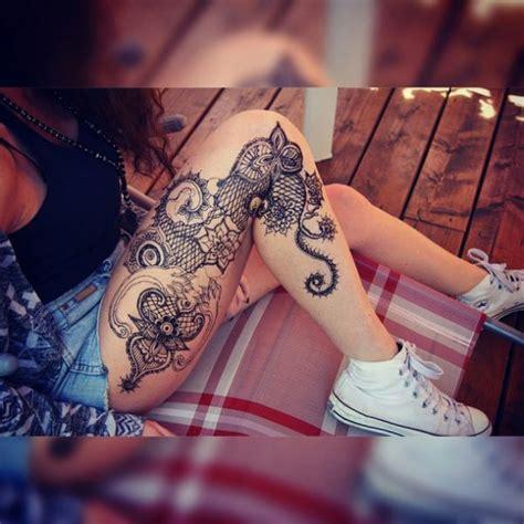 imagenes tatuajes para mujeres en la pierna fotos de la manga del tatuaje de la mujer de la pierna