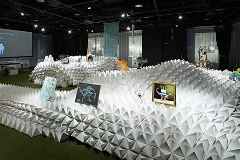 exhibition booth design japan monsterscape booth by hannat architects tokyo japan