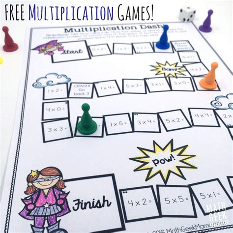 printable games multiplication easy low prep printable multiplication games free