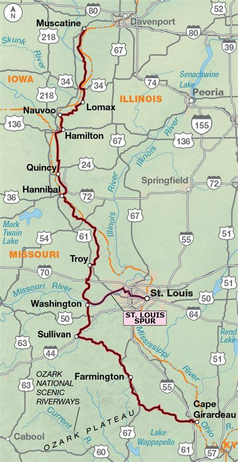 missouri amtrak map 17 best images about adventure cycling route network on