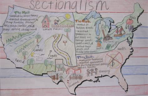 sectionalism map teaching about sectionalism middle school history