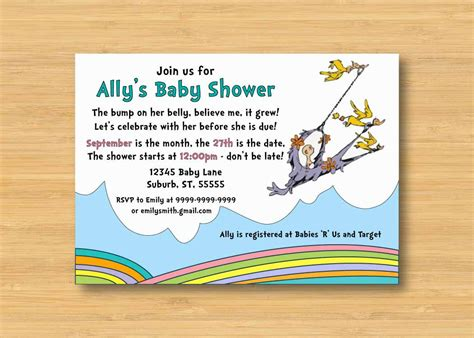 Oh The Places You Ll Go Baby Shower Invitations by Oh The Places You Ll Go Baby Shower Invitation Printable
