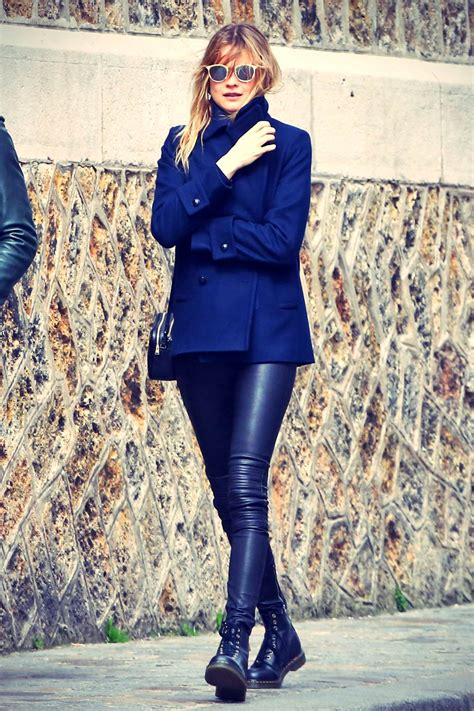 Behati Prinsloo out and about in Paris Leather Celebrities