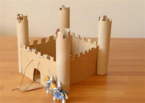 How To Make A Castle Out Of Cardboard And Paper - make an easy castle for time traveller