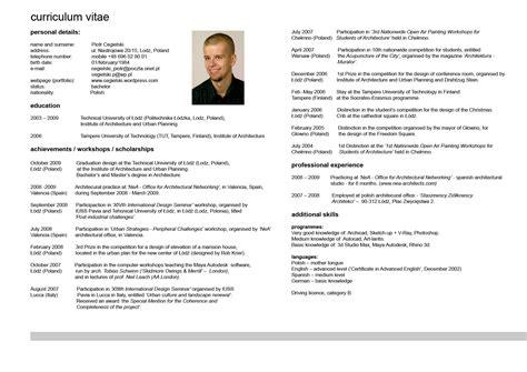 curriculum vitae curriculum vitae download blogspotcom curriculum vitae resume cv exle template