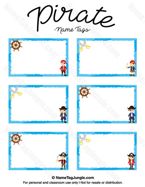 printable pirate labels free printable pirate name tags the template can also be