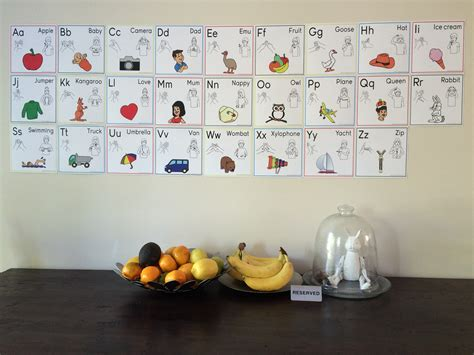wall cards auslan alphabet wall cards expressions