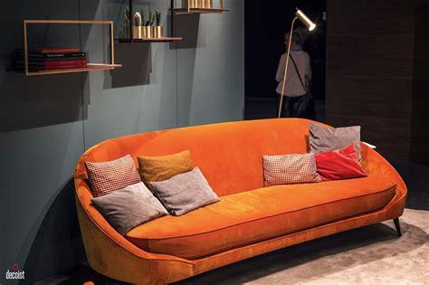 bright  comfy sofas  add color   living room