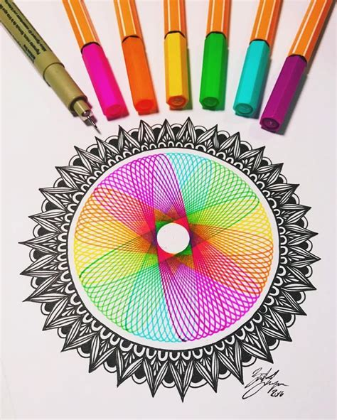 Spirograph Pattern Drawing Design creating a spirograph rainbow spirographs let anyone draw