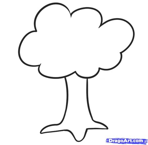 simple tree drawing draw a tree for step by step drawing sheets added