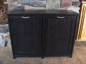 Plastic Tool Storage Containers - new black painted wood double trash bin cabinet garbage can