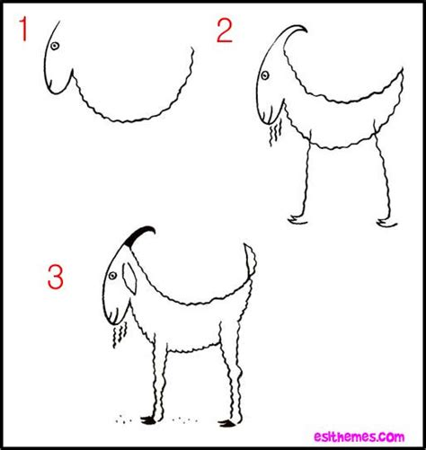how to draw new year goat learn how to draw a goat dessin enfants