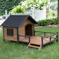 Patio Fencing For Pets Boomer Amp George Lodge Dog House With Porch Large Dog