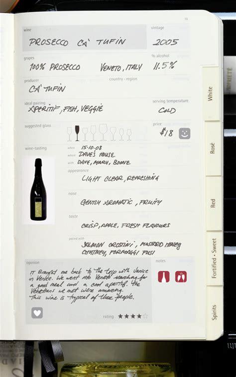 wine diary book moco loco modern contemporary design