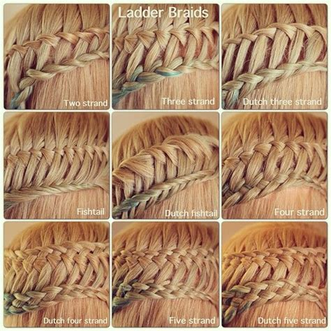 different kinds of braids step by step pin by emilie ronhaar on beautiful braids pinterest