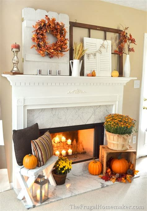 decoration autumn home fall decorating ideas home fall diy fall mantel decor ideas to inspire landeelu com