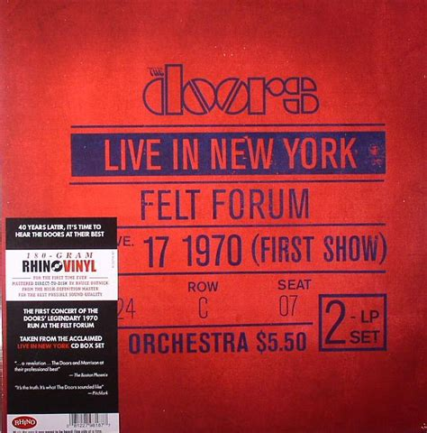 Live In New York the doors live in new york january 17 1970 show