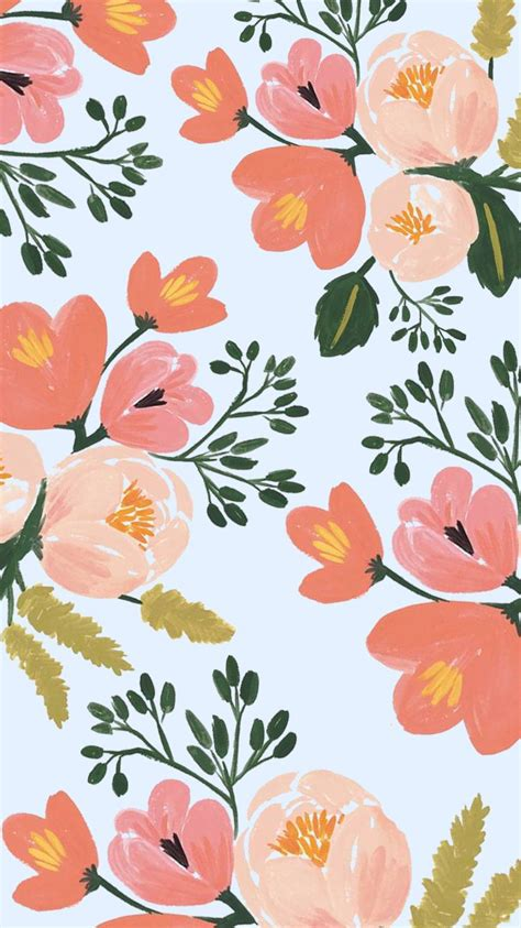 flower pattern on pinterest rifle paper co iphone 6 plus spring floral wallpaper