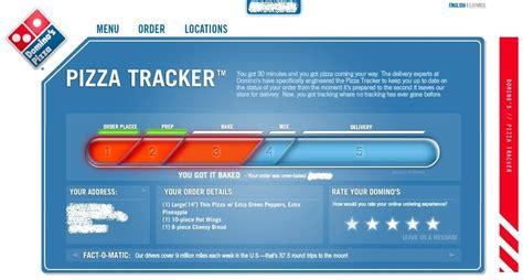 domino pizza tracker things we like domino s pizza tracker