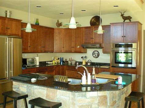 kitchen island with sink rustic homes