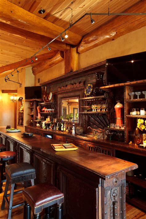 rustic cave bar ideas family room traditional with